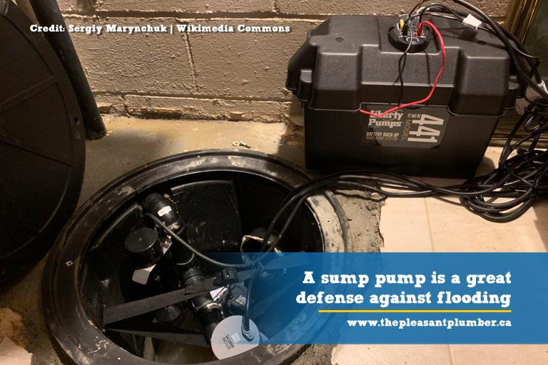 A sump pump is a great defense against flooding