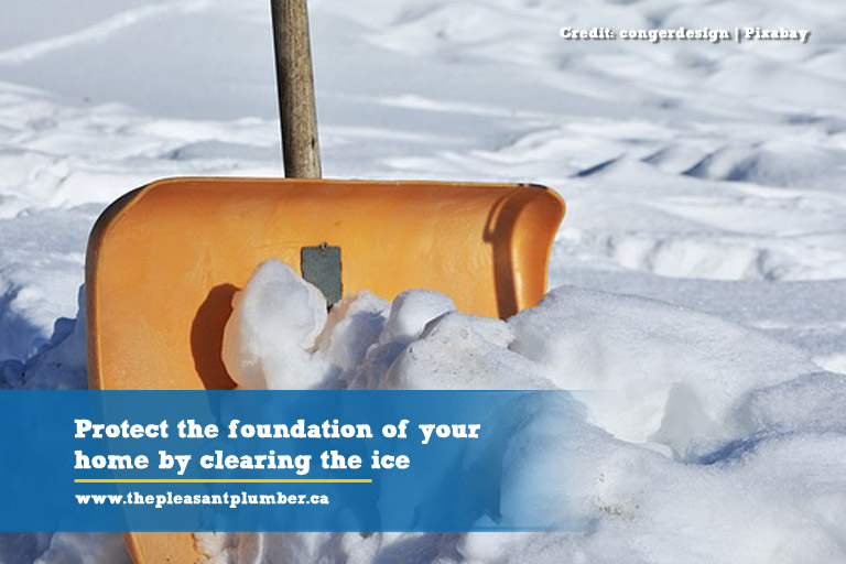 Protect the foundation of your home by clearing the ice